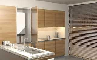 Интерьер кухни с газовым котлом на стене