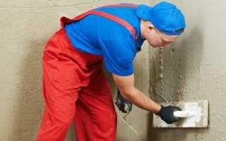 Оштукатуривание стен из газобетона внутри помещения