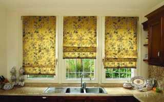 Как крепить римские шторы к стене