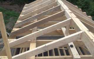 Коньковый узел стропильной крыши