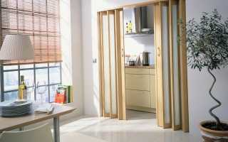 Как собирается дверь гармошка?